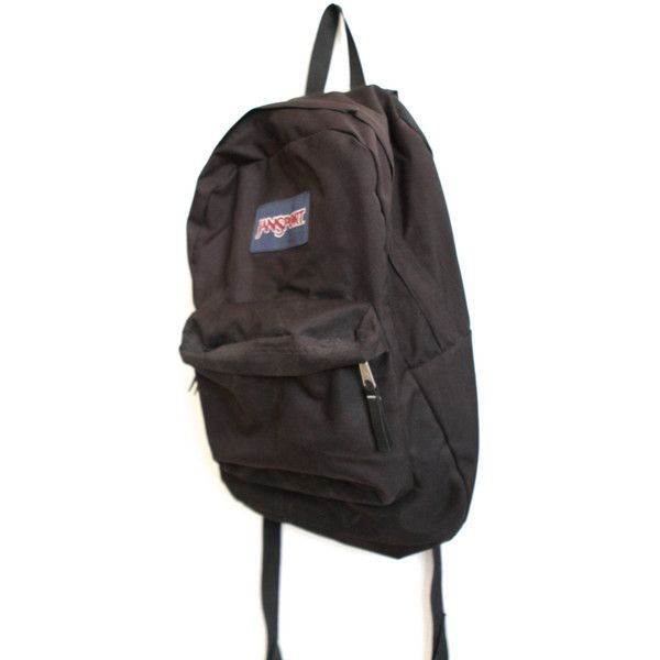 74aa0ff57493 JANSPORT BLACK vintage 90s BACKPACK day pack ( 36) ❤ liked on Polyvore  featuring bags