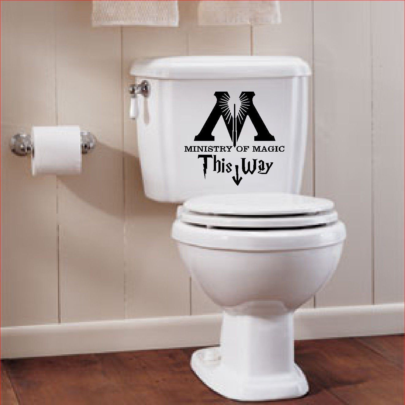 harry potter ministry of magic toilet sign wall decal products rh pinterest co uk