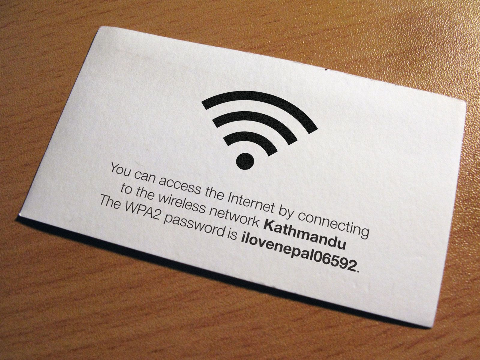 My solution is wifi courtesy cards: business cards that you make ...