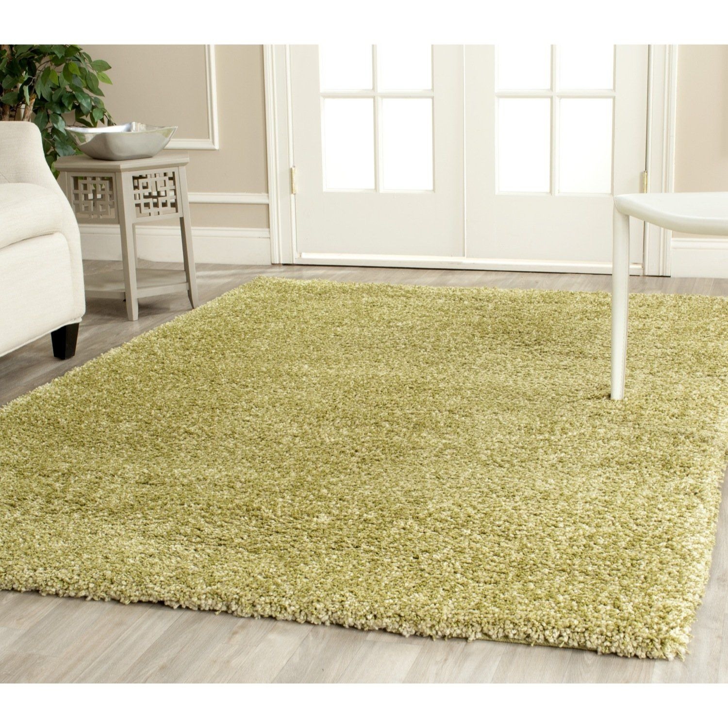 Safavieh California Shag Collection SG151 5252 Green Shag Area Rug, 4 Feet  By 6