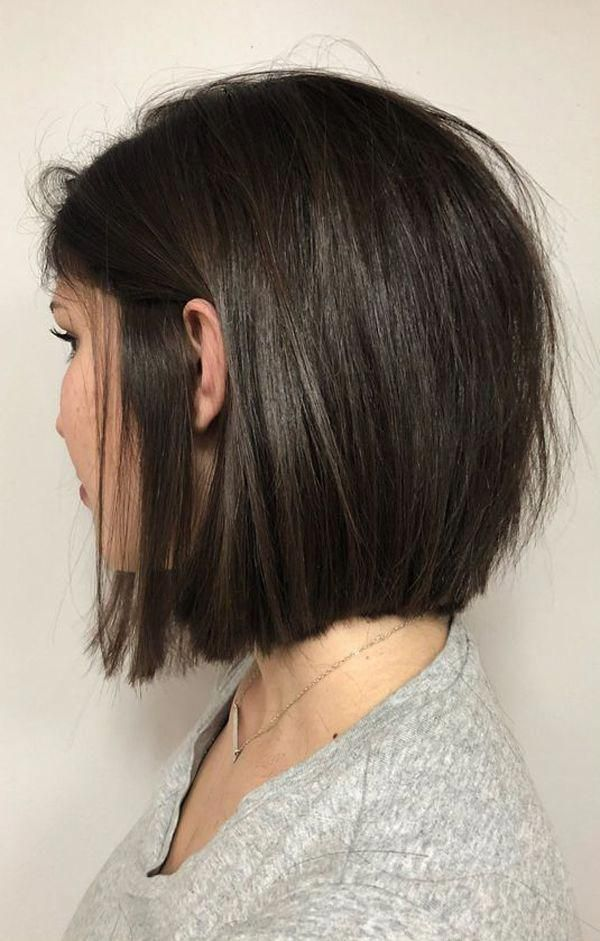 Beautiful Short Hairstyles For Round Faces And Thick Hair Short Layered Bob Hairstyles With Side Bangs For Rou Chin Length Hair Short Hair Lengths Hair Styles