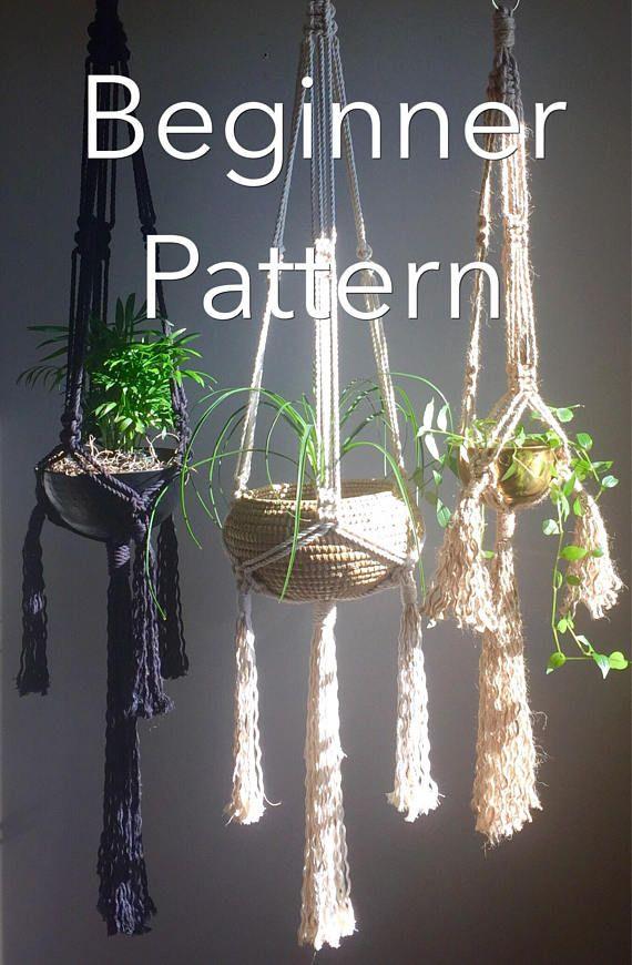 Anastasia Beginner Macrame Pattern Tassels Pdf Diy Plant Etsy