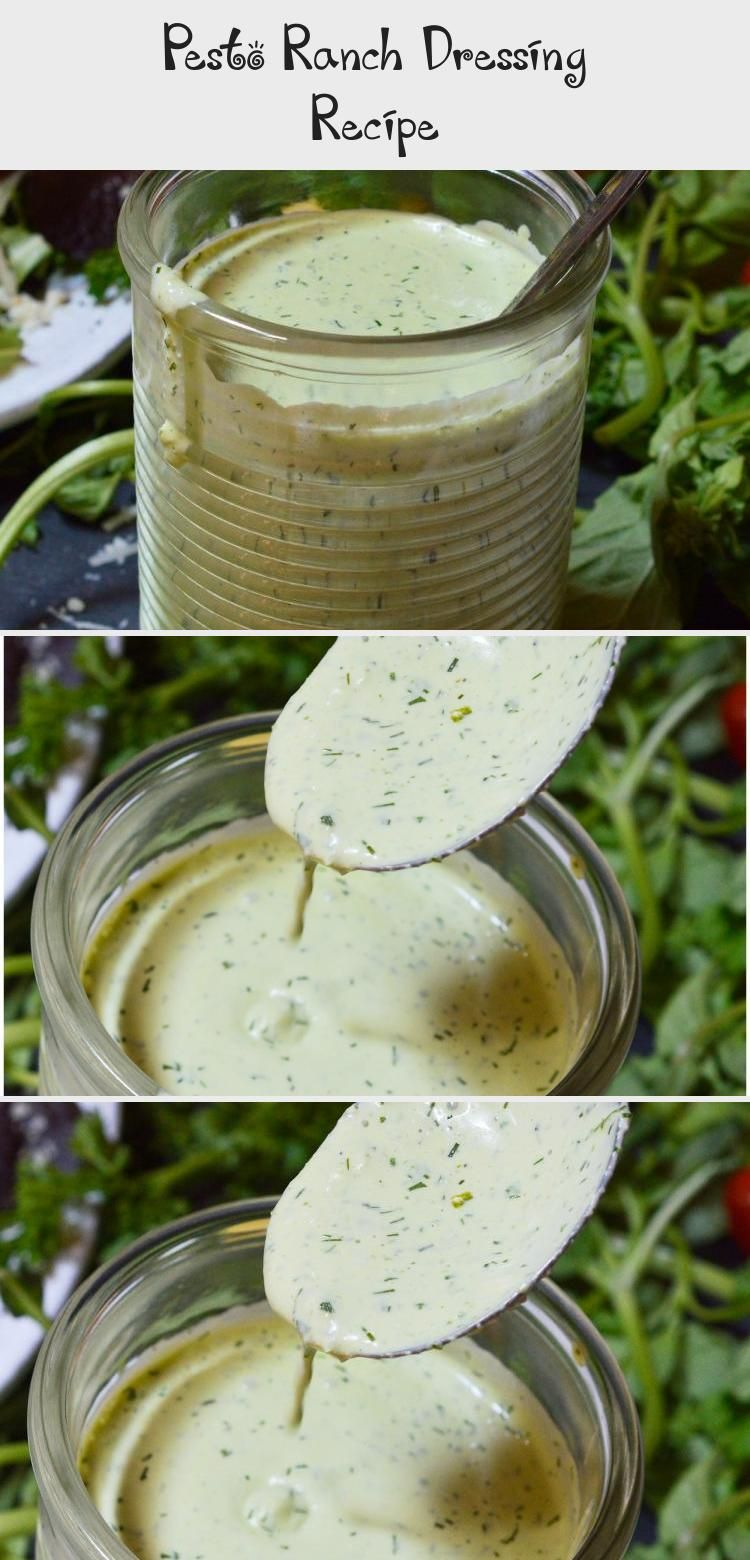 Homemade Salad Dressings Are Simple Yet So Much More Flavorful Than Store Bought This Nbsp Pesto Ranch Dr In 2020 Ranch Dressing Ranch Dressing Recipe Dressing Recipe