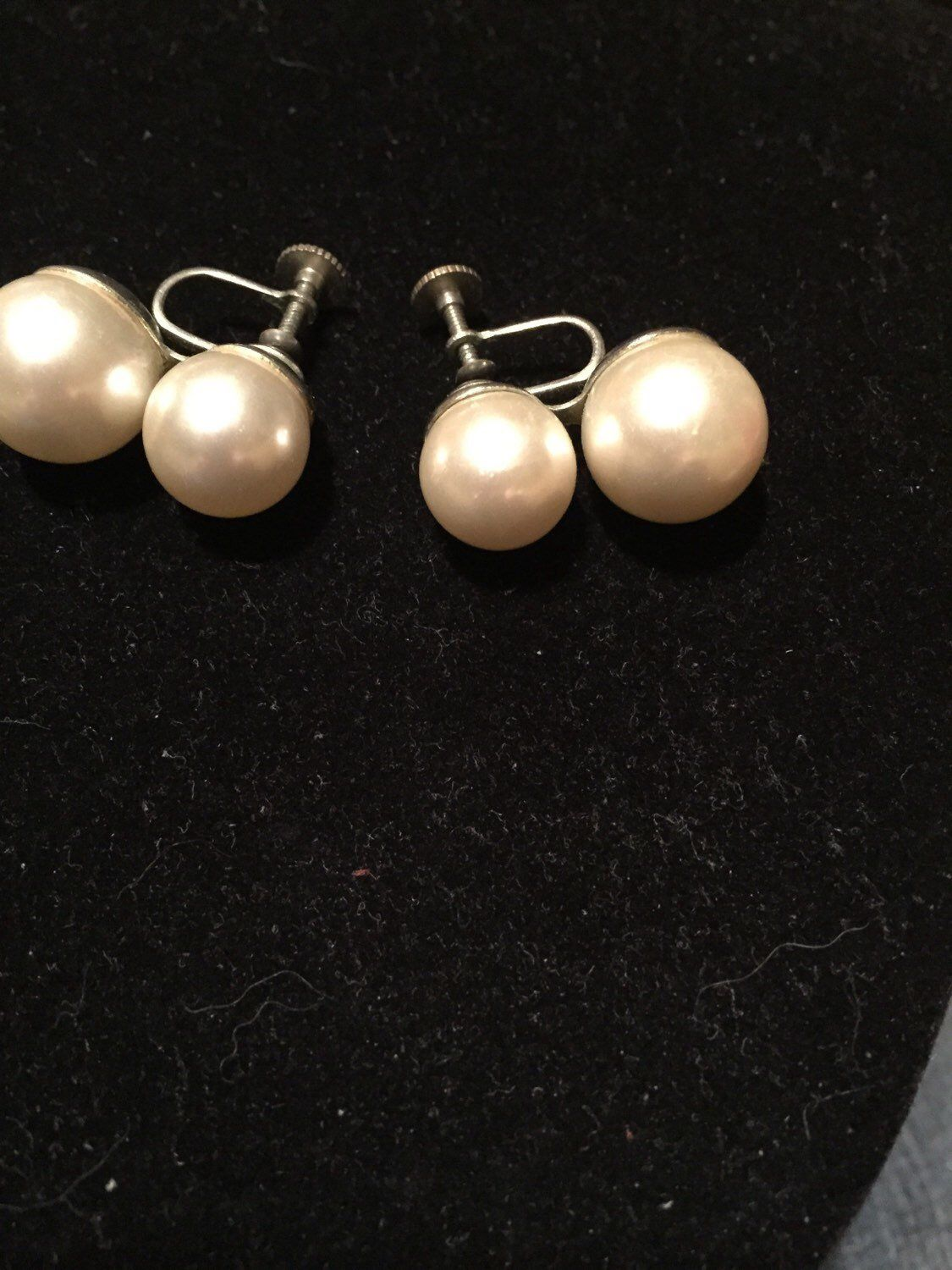 68dc24f91 Excited to share this item from my #etsy shop: Vintage, lg. white, faux  double pearls, fun, formal, rockabilly, 60's, Japan, screw back earrings
