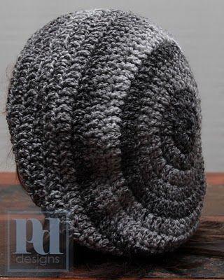 slouchy crochet hat | Yarn-ical | Pinterest | Mütze, Schals und Hüte