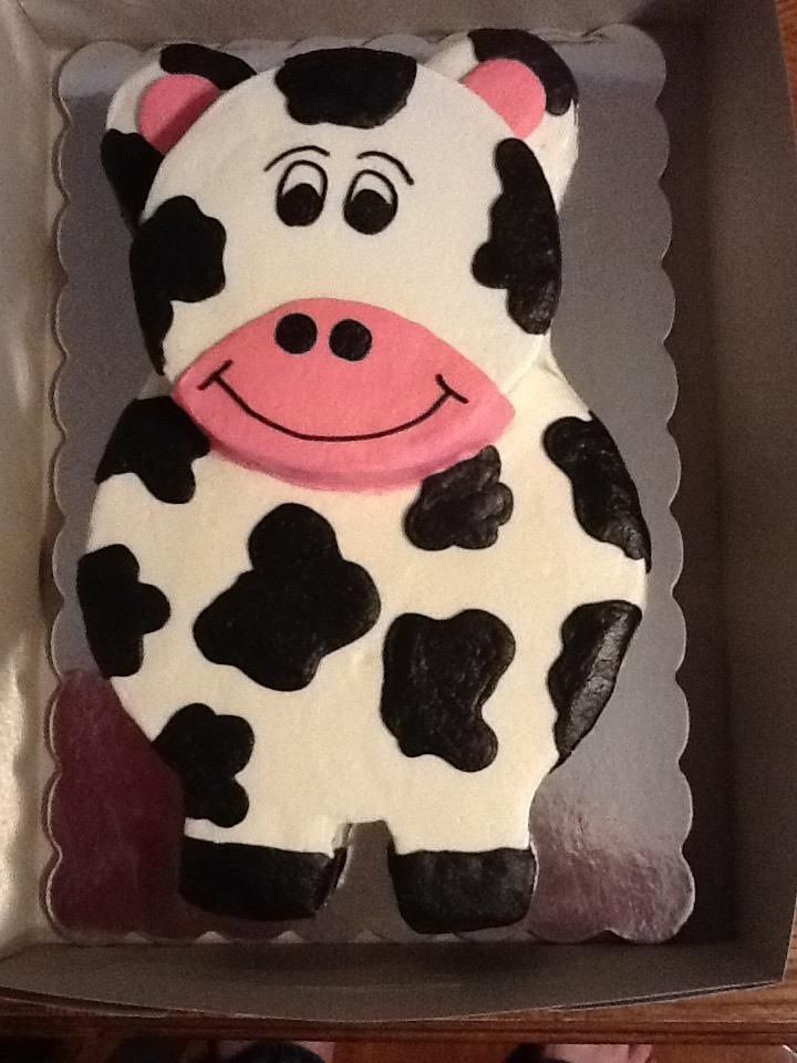 Brilliant Childrens Birthday Cakes Cow Cake All Buttercream Deserts Funny Birthday Cards Online Overcheapnameinfo