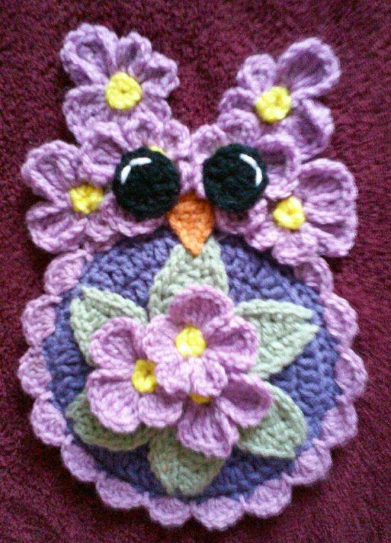 Crochet Miss Febuary Owl Potholder Pattern | Potholder patterns ...