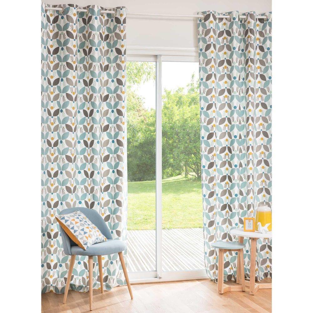 Rideau à œillets en coton 140 x 250 cm CALI | For the Home ...