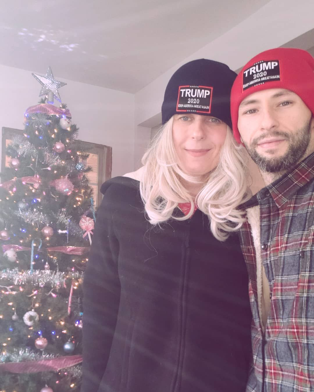 Beautiful Christmas with our Donald J. Trump #trump2020 beanies on.  #president #presidenttrump #trump