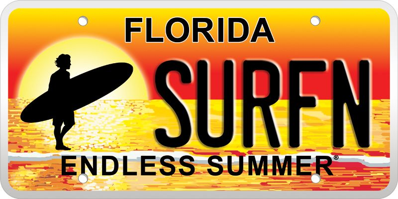 My life Florida license plates, Endless summer, Florida