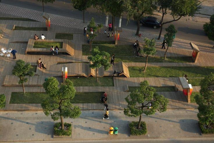 Plaza Seating Deck Planter Edge Level Difference Urban Landscape Design Urban Landscape Park Landscape