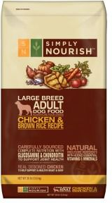 Simply Nourish Chicken Brown Rice Recipe Adult Large Breed Dog