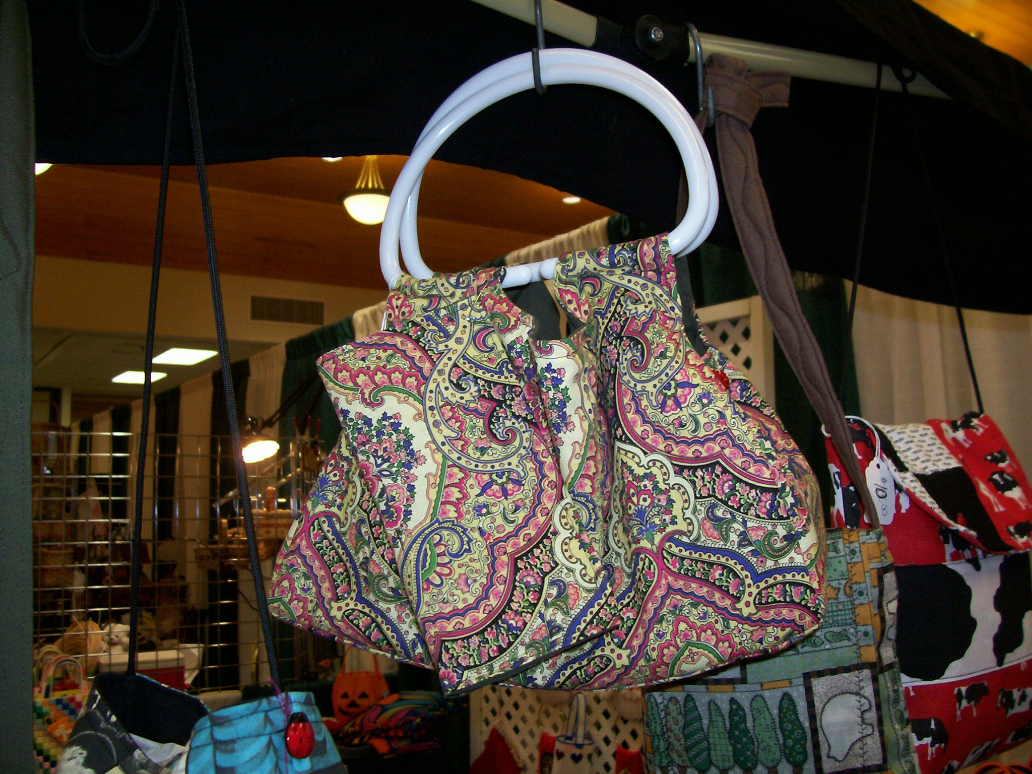 cute purse with checkbook cover, pockets on the inside.  For Sale