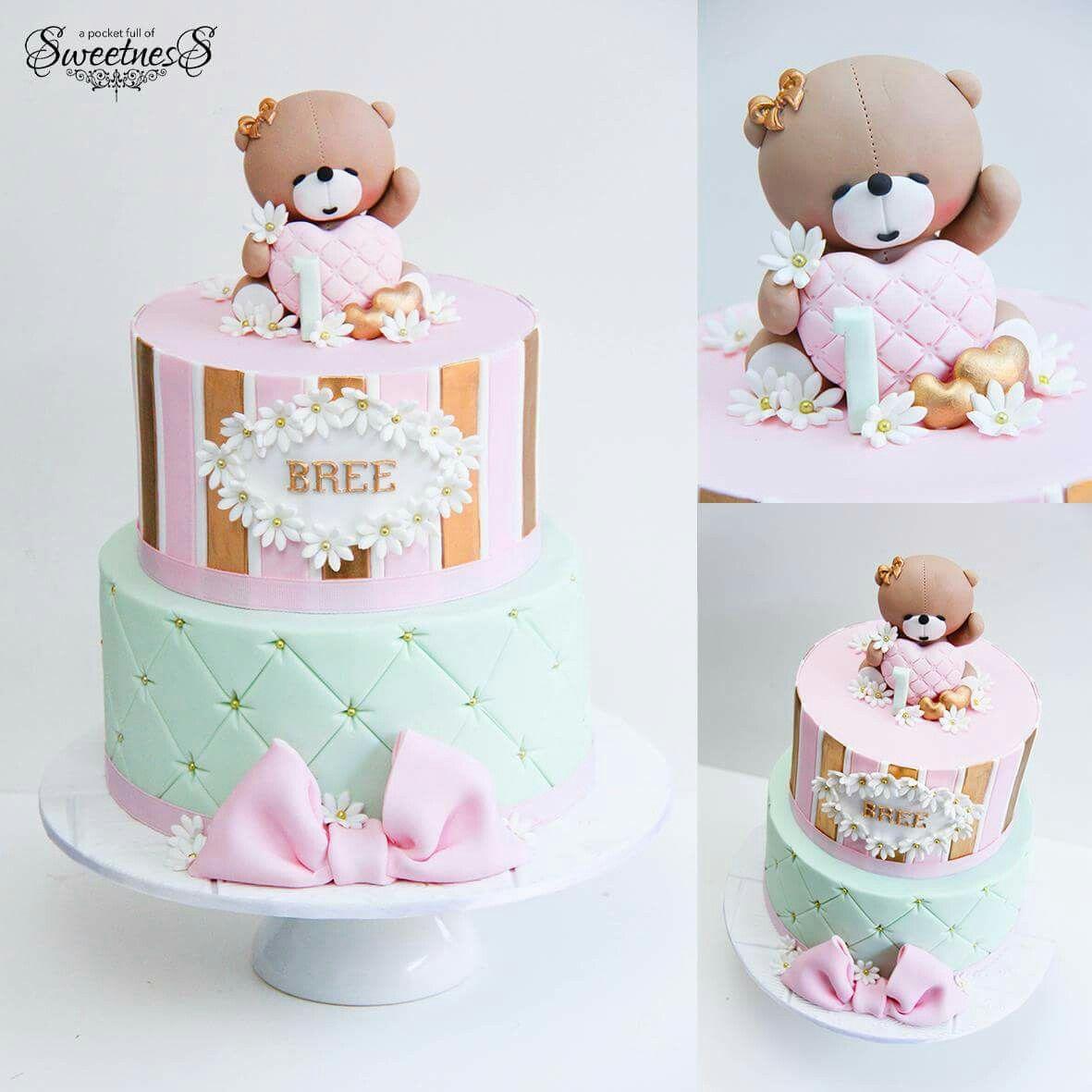 Beary cute cake baby shower tortas de cumplea os para - Bizcocho cumpleanos para ninos ...