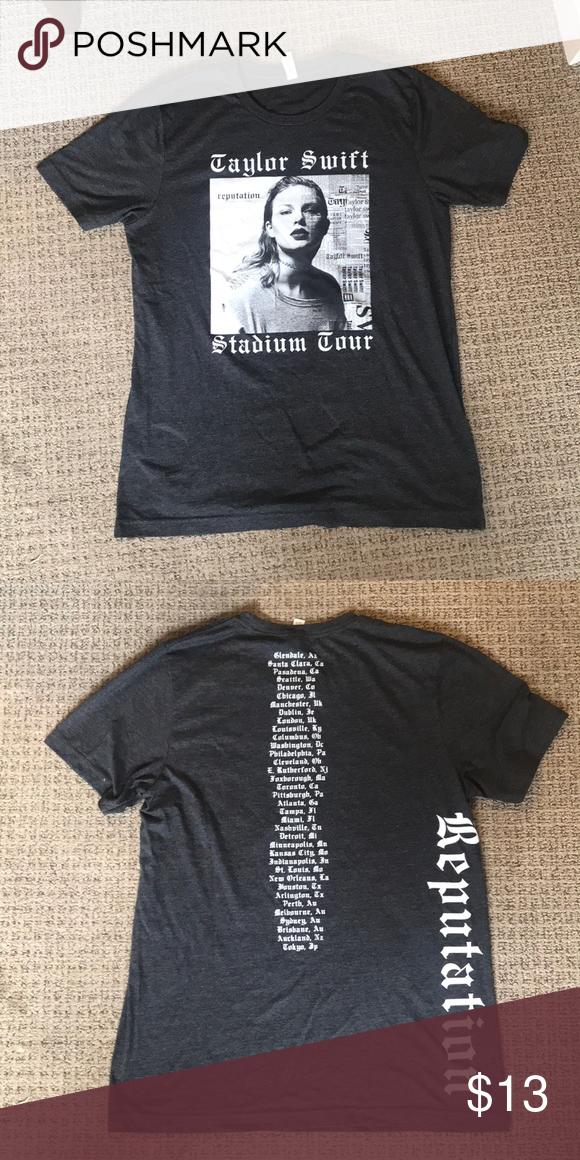 Taylor Swift Reputation Tour T Shirt Tour T Shirts T Shirt Long Sleeve Tshirt Men