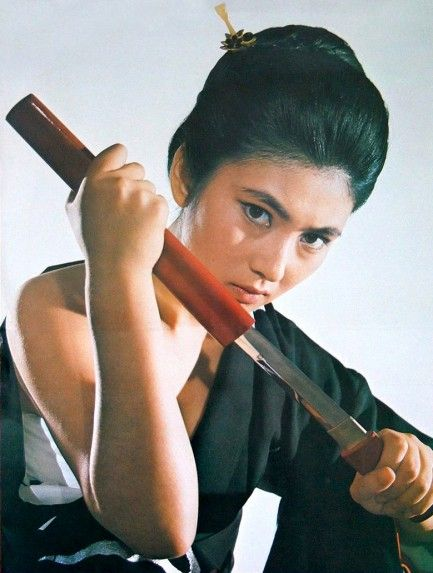 Meiko Kaji som Lady Snowblood. More