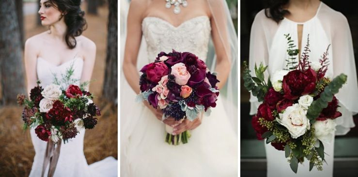 Beatiful wedding bouquets! <3 #marsalacolor #wedding #flowers