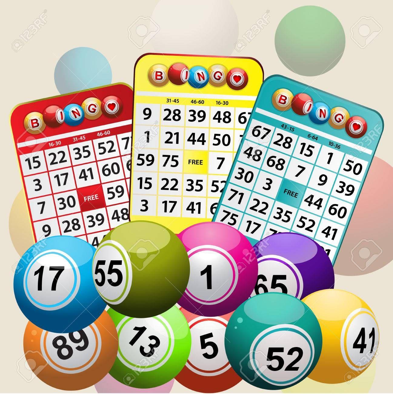 Set Of Bingo Cards And Bingo Balls Background Illustration Ad Cards Bingo Set Illustration Background Bingo Cards Bingo Cards
