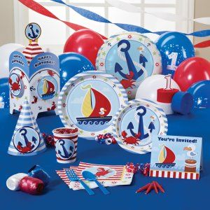 Anchors Aweigh 1st Birthday Party Supplies 67525 Alex birthday