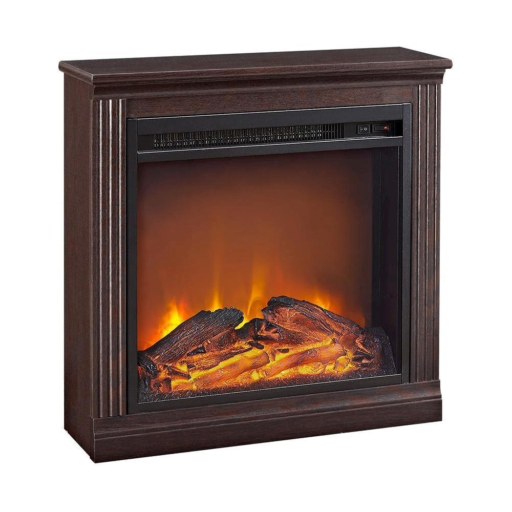 Bruxton Simple Fireplace Red Oak Altra Brown Electric Fireplace Fireplace Simple Fireplace