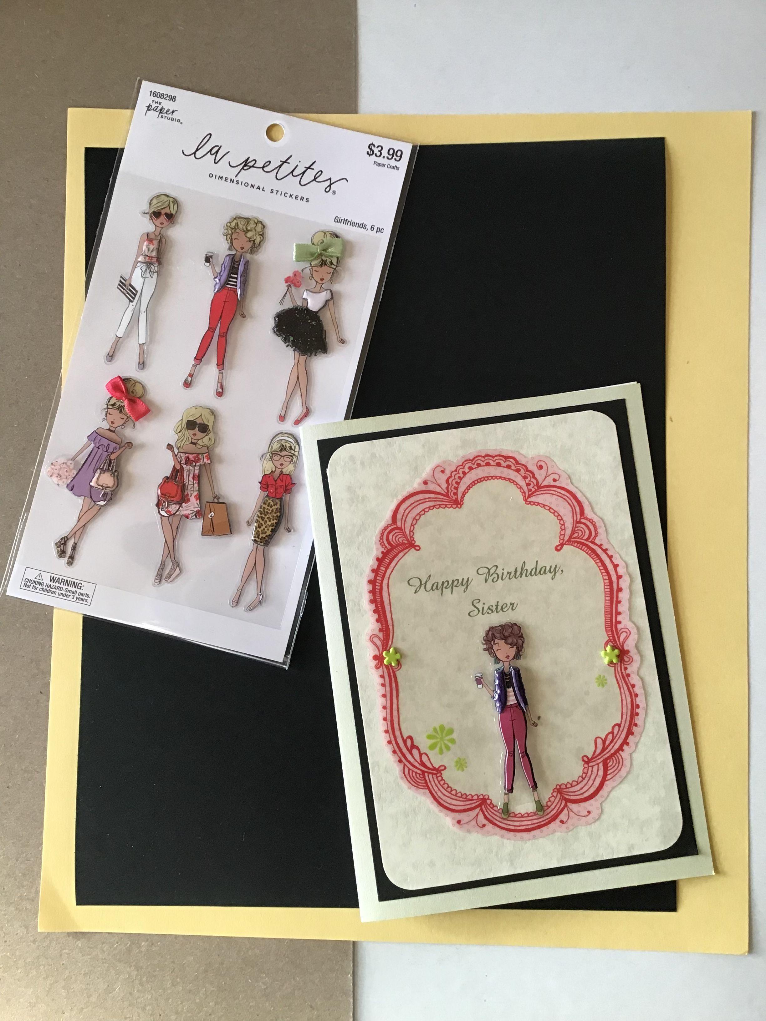 Paper Studio La Petites Girlfriend Stickers And Handmade Diy