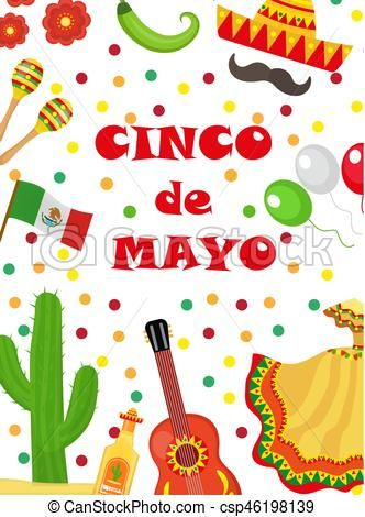 Cinco de mayo greeting card template for flyer poster invitation cinco de mayo greeting card template for flyer poster invitation mexican celebration with traditional symbols vector illustration vector st stopboris Image collections
