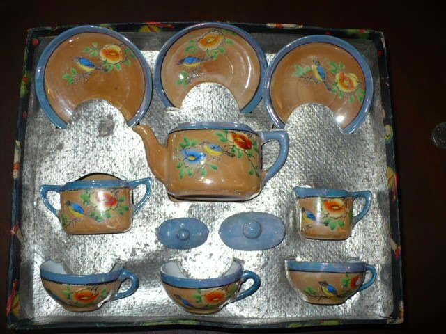 Child S Little Hostess Set In Original Box Made In Japan Childrens Tea Sets Childrens Dishes Toy Collection