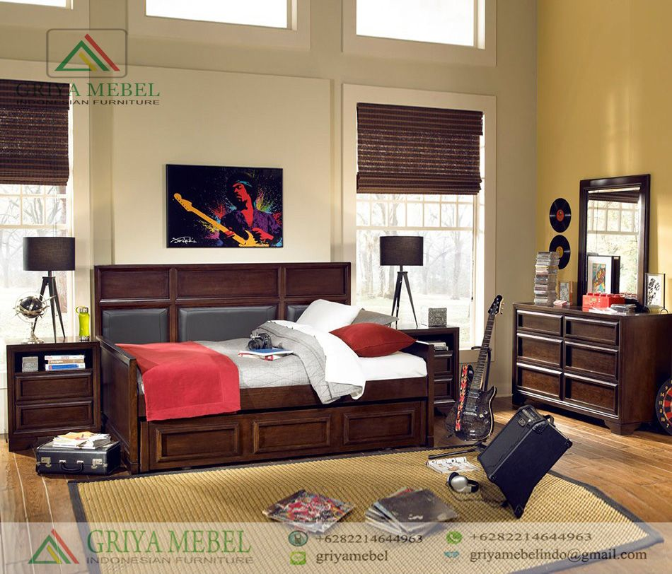 Set Furniture Kamar Anak Modern Minimalis (Dengan gambar ...