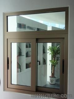 Office Partitions Glass Windows And Aluminium Section Work In