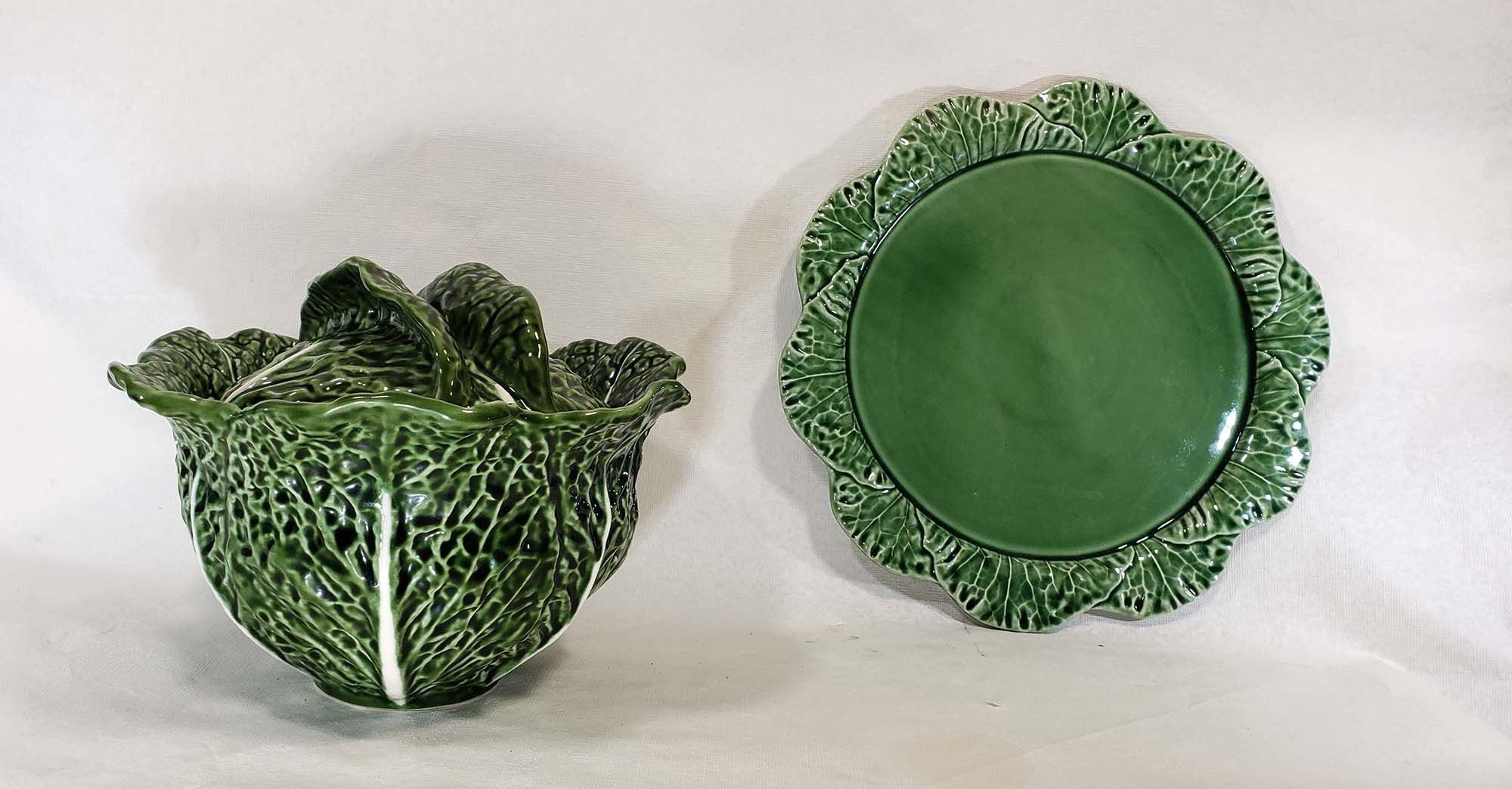 3 Piece Olfaire Cabbage Soup Tureen And Chop Plate Designed By Etsy Plate Design Hand Blown Glass Tureen