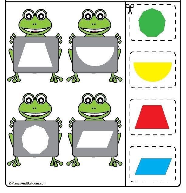 Учим с лягушатами геометрические фигуры | Математические игры