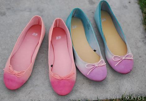 Tenir Telas Con Efecto Degradado Jpg 470 326 Desteñir Ropa Como Teñir Zapatos Zapatos Teñidos
