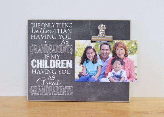 Grandparent Photo Frame, Grandparent's Day Gift For Grandparents #grandparentphoto