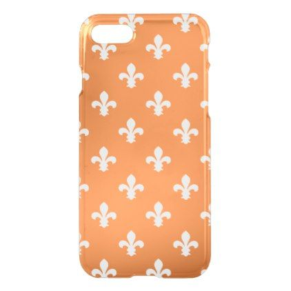 orange southern cottage fleur de lys iphone 8 7 case pattern