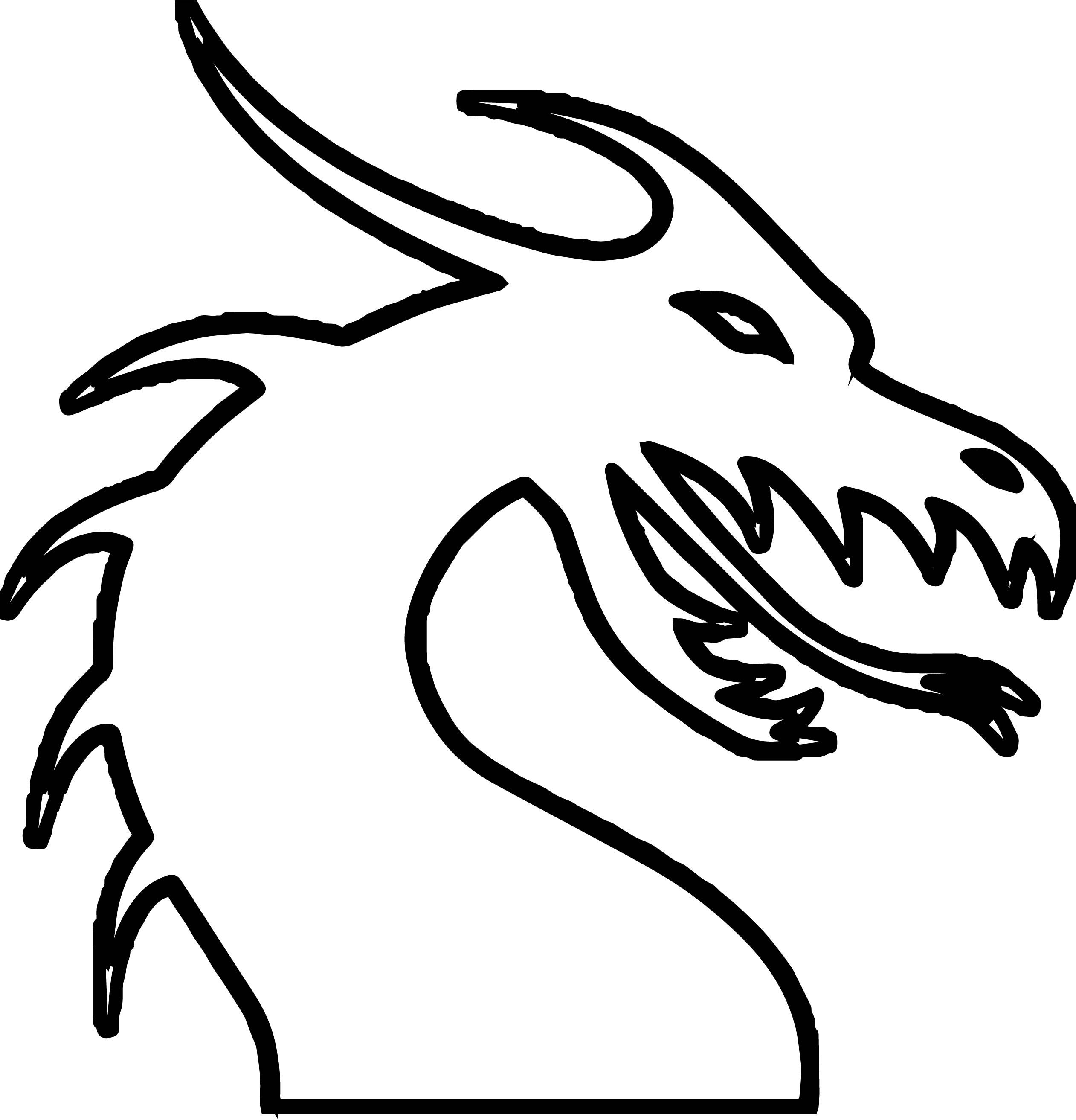 nice Dragon Outline Coloring Page | Coloring pages ...