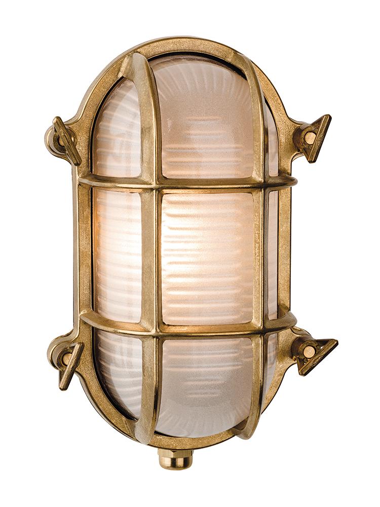 New Brass Oval Bunker Light Bulkhead Light Brass Wall Light Outdoor Lighting