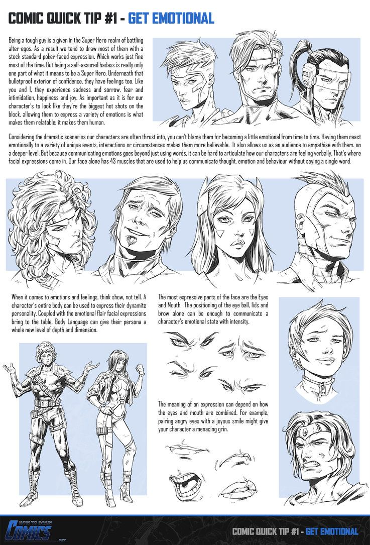 How to draw comic book tutorial