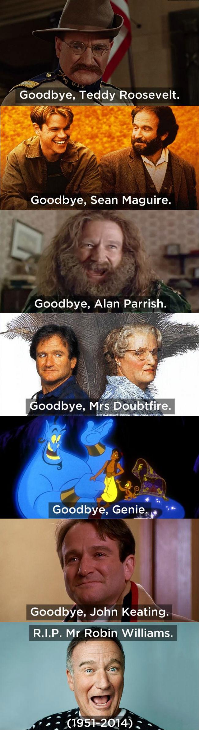 Goodbye Robin Williams Weknowmemes Robin Williams Robin Williams