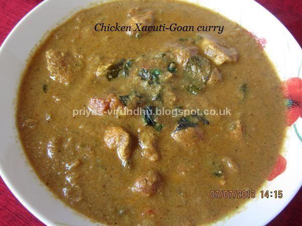Chicken Xacuti Goan Chicken Curry Chicken Dishesindian Recipes