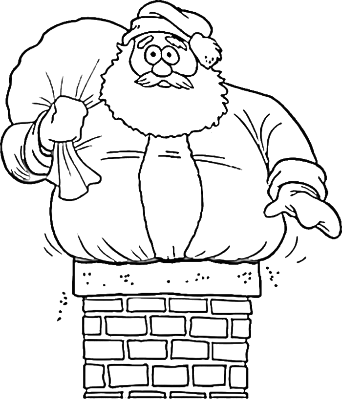 funny santa claus coloring pages  christmas coloring