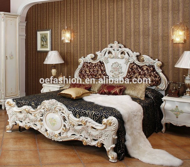 Baroque Antique Style Luxury Furniture French Style Bed With Green Wooden Carving View French Style Queen Bed Oe Fashion Product Details From Foshan Oe Fashio Furniture French Style Bed Luxury Furniture