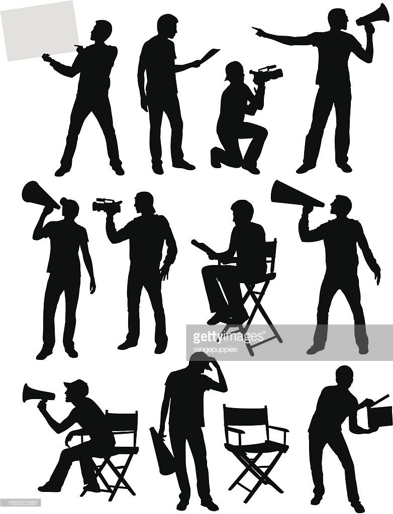Image Result For Movie Director Silhouette Movie Director Silhouette Silhouette Art