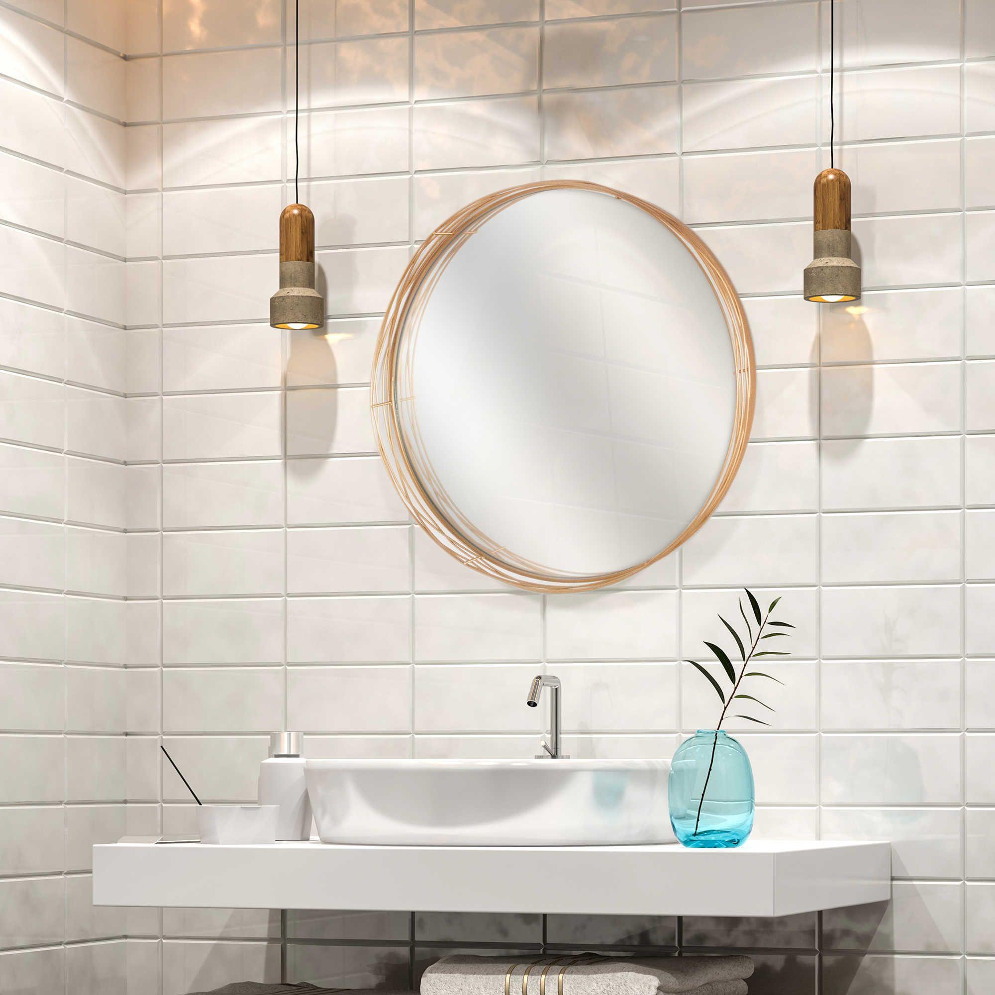 Elsa L Mirrors 24 Inch Round Wire Nest Mirror In Brass Mirror Round Mirror Bathroom Brass Bed 24 inch round mirror