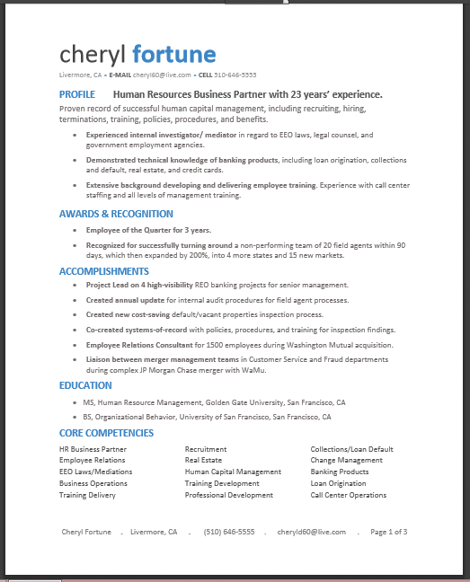 Banking Loan Resume Stunning Pdf Only Design Plain Blueto Order Resumes Contact Sandy At .