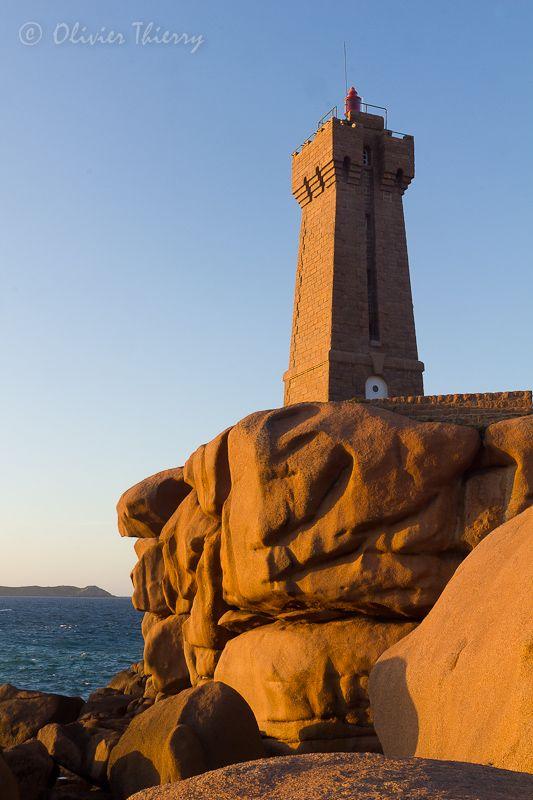 Lighthouse Ploumanac H Bretagne Kort Bij Plougrescant Start