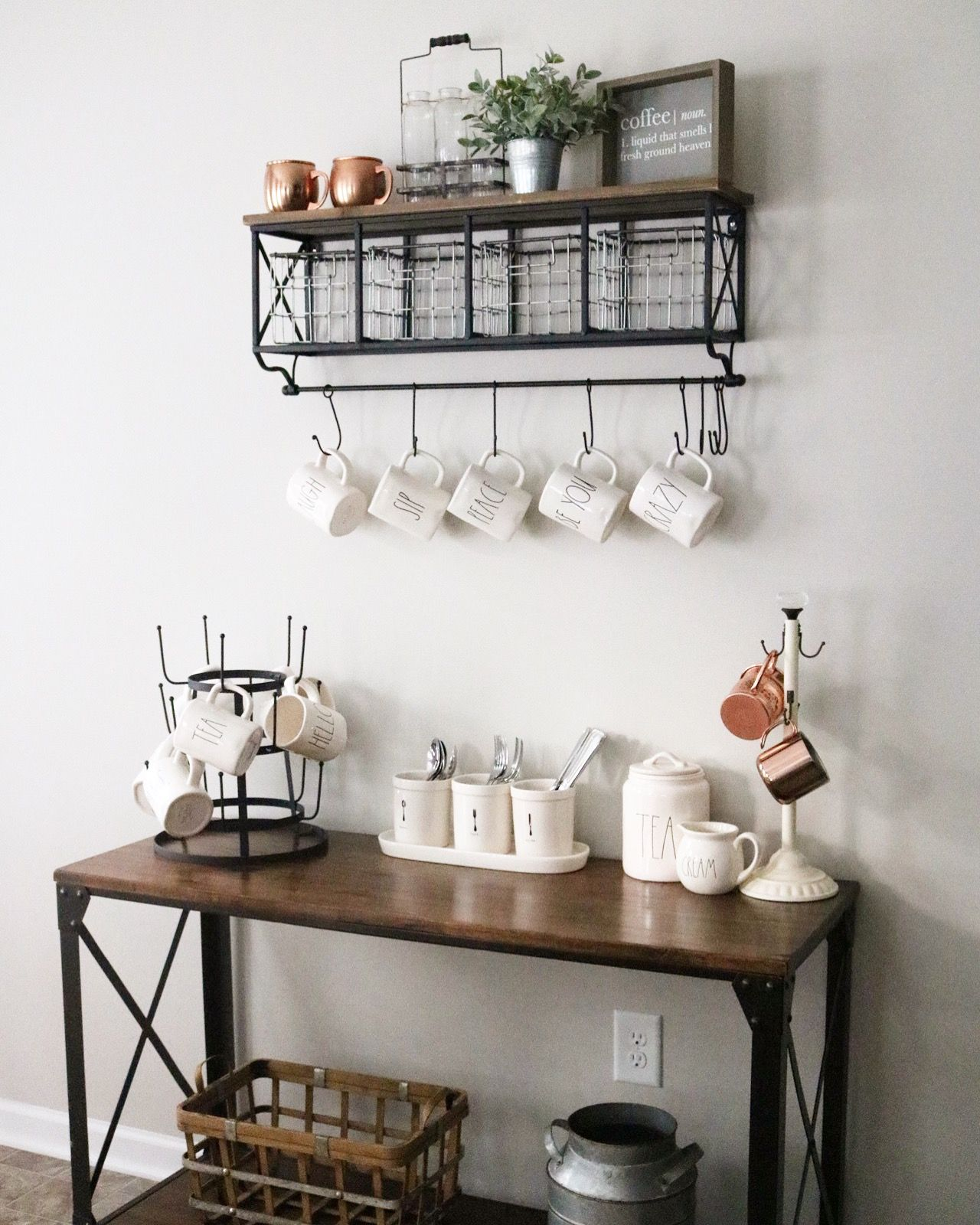 Modern Farmhouse Coffee Bar