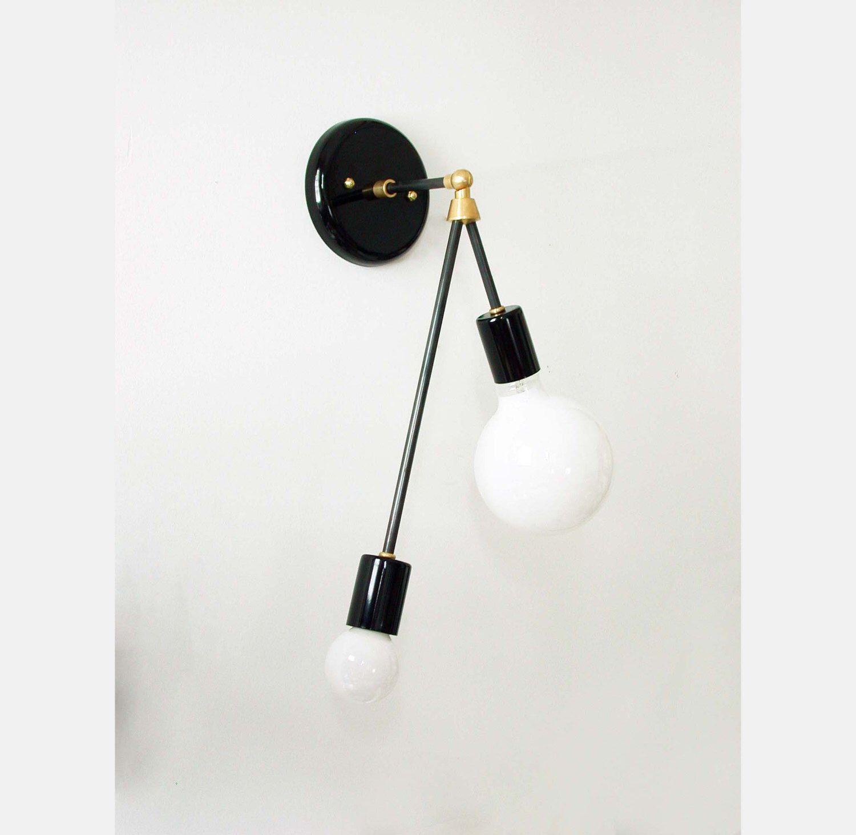 bedroom wall sconce lighting. Modern Balanced Wall Sconce Lamp Double Lighting Light Foyer Bedroom Gold N