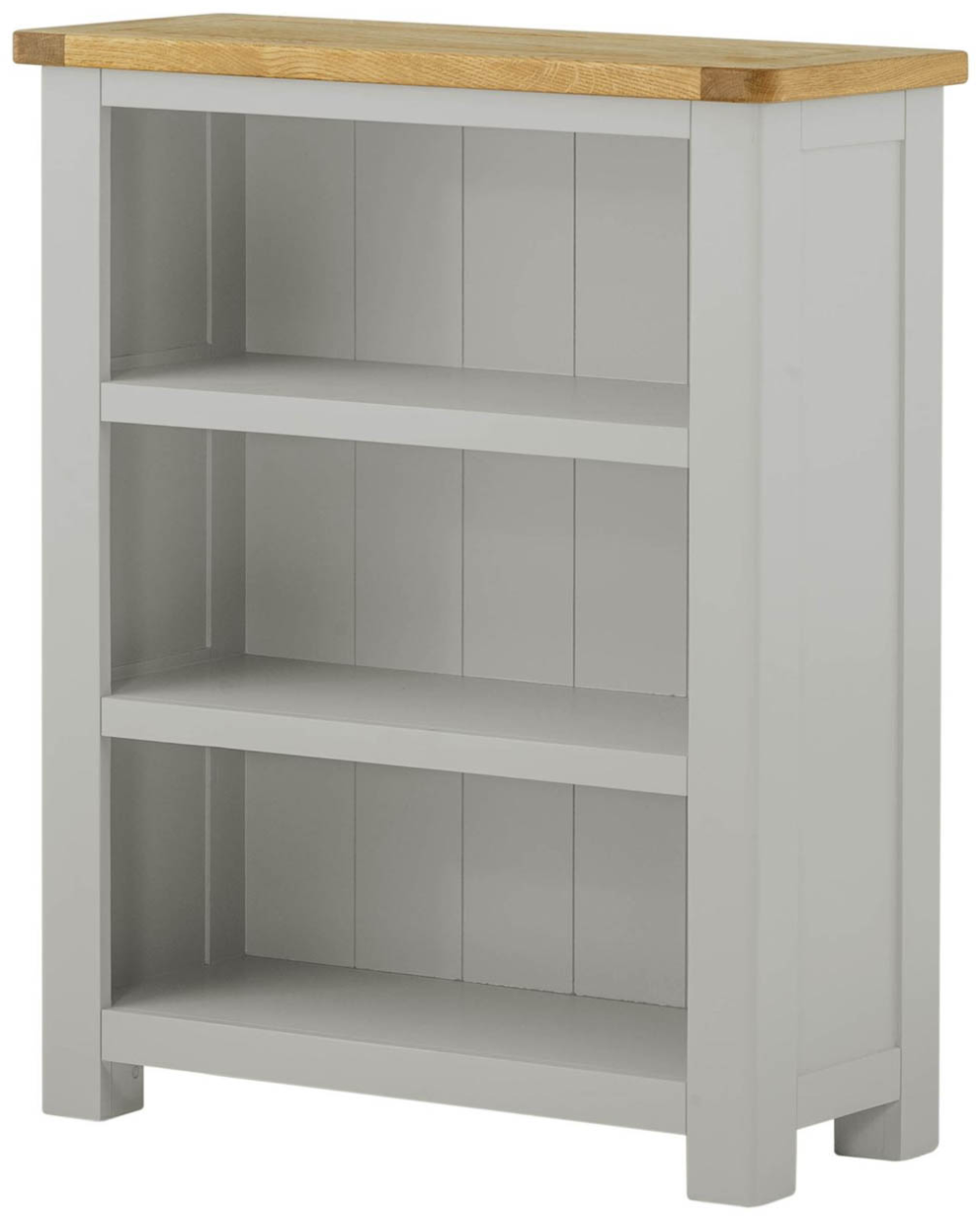 Portland Stone Grey Painted Small Bookcase Fully Assembled In
