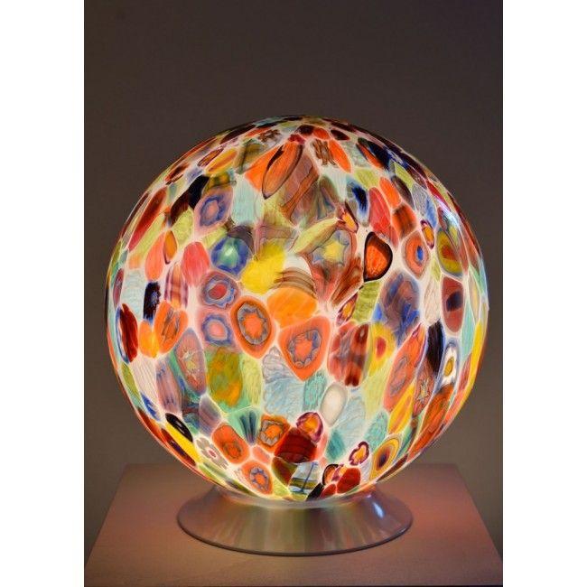 Lampe Boule En Verre Souffle De Murano Verre Artisanal De Venise Boule En Verre Murano Lampe De Table En Verre