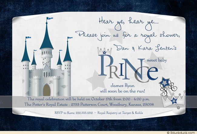 French castle baby shower invitation shower invitations and birthdays birthdays french castle baby shower invitation stopboris Gallery